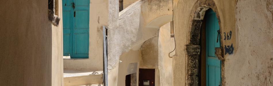 The Old Settlement Of Kastelli In Emporio Santorini